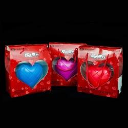 Estuche 3x3 corazón rojo