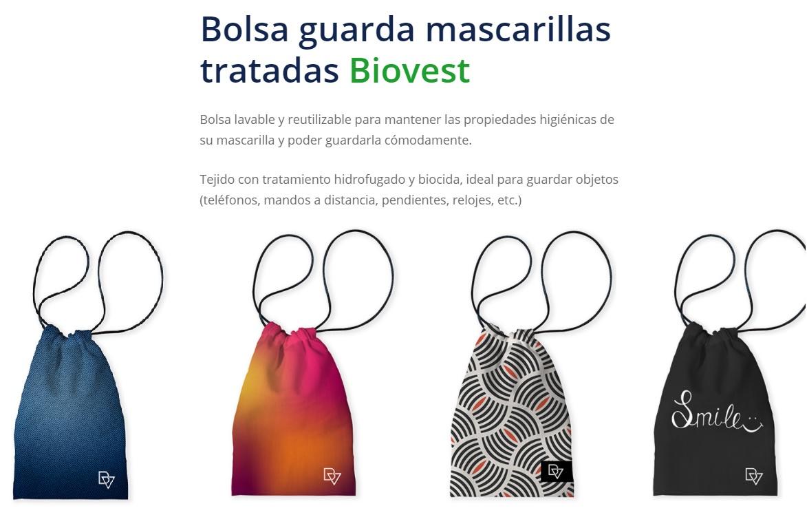 Bolsas Portamascarillas Tratadas Bioves